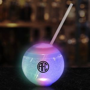 20oz Multicolor LED Ball Tumbler with Straw