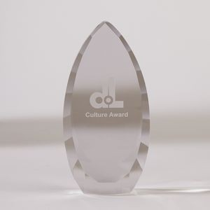 Faceted Teardrop Award - Large